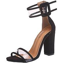 Sandalias para mujer Sandalias de tacón alto de mujer Zapatillas de plataforma de tobillo Zapatos de