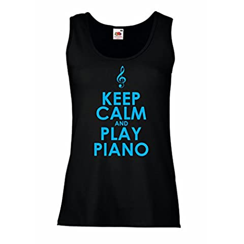 Damen Tank-Top Klavier - Musiker zitiert (X-Large Schwarz