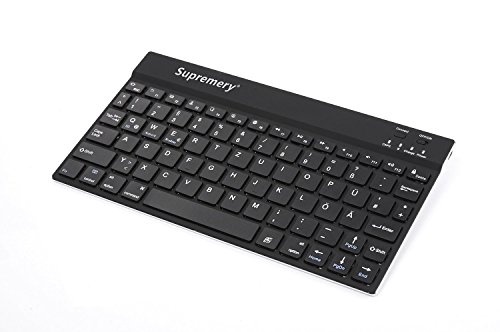 Supremery Lenovo Yoga 2 (8 Zoll) Tablet-Pc Tastatur Alu Bluetooth Keyboard - Deutsches QWERTZ Layout Slim Design + USB Datenkabel