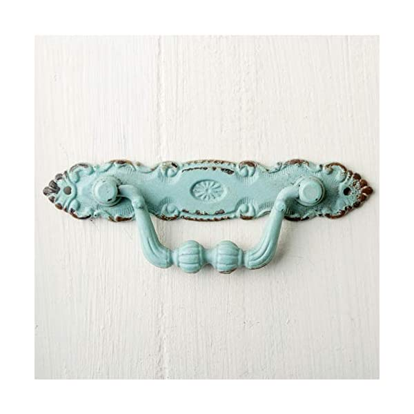 zenggp Cabinet Drawer Cabinet Handle Cupboard Drawer Desk Dresser Drop Bar Pull Swing Handle Antique,Blue zenggp -A beautiful Vintage Style drawer pull handle made from high quality Zinc alloy. -Dcorative drawer handle is nicely crafted for furniture. Gorgeous drawer handle is sure that will bring a touch of beauty to your home. - 2 screws are provided per handle, which are suitable for attaching the handle to a wooden product such as a kitchen drawer. 3