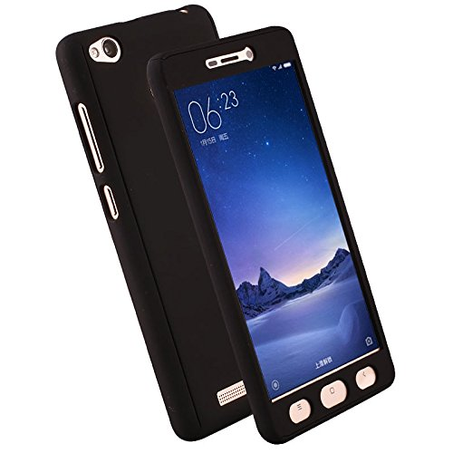 """Lance Retail Redmi Y1 / Y1 Lite Cases and Cover (Black) """"360 Degree"""" Matte Finish Full Body Protection"""
