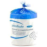 Teqler T-130400 Torundas de celulosa, 12 capas de celulosa blanqueada médica en oxígeno, 2 rollos, según DIN 19310, DAB (pack de 1000 uds.)