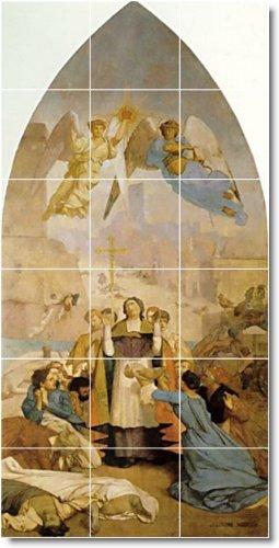 JEAN GEROME HISTORICA PERSONALIZADO TILE MURAL 24  18X 36CM CON (18) 6X 6AZULEJOS DE CERAMICA