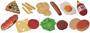 Miniland Set de 19 Alimentos de Comida rápida para Jugar Colores Reales (30585)