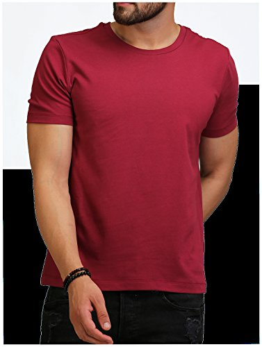 d21bc2d2a AELO Men's Cotton Maroon Crew Neck T-Shirt – ROYAL PURCHASE
