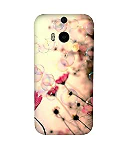 Bubbles Back Cover Case for HTC One M8