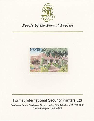 Nevis 1985 Tourism (2nd series) $1.20 (Montpelier Plantation Inn) imperf proof mounted on Format International proof card as SG 246 TOURISM JandRStamps - Plantation Inn