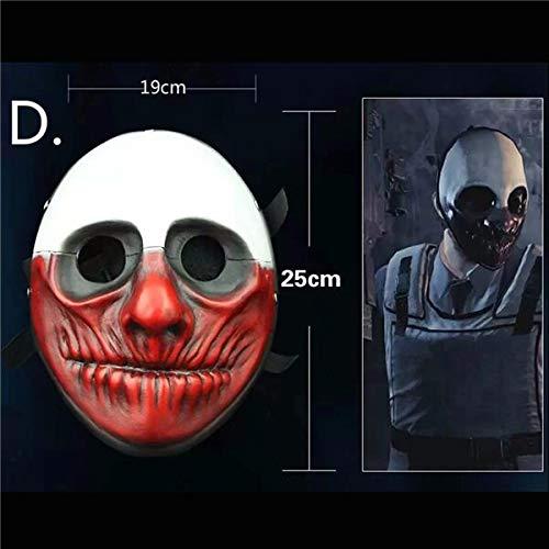 Zahltag 2 Maske Joker Zahltag2 Party Masken Überfall Dallas/Wolf/Ketten/Hoxton Party Cosplay Halloween Horror Maskerade Maske, Braun