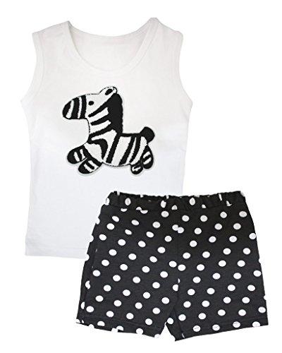 iß Weste Polka Dots Schwarz Kurz Set–74bis 122 Gr. Small, schwarz (Party Rock Zebra Kostüm)