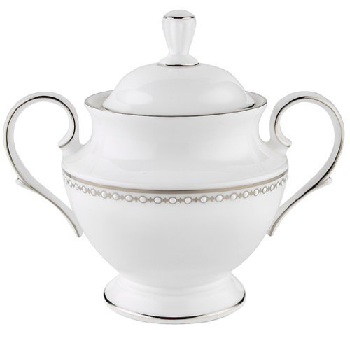 Lenox Pearl Platinum Bone China Sugar Bowl by Lenox Lenox Pearl Platinum Bone China