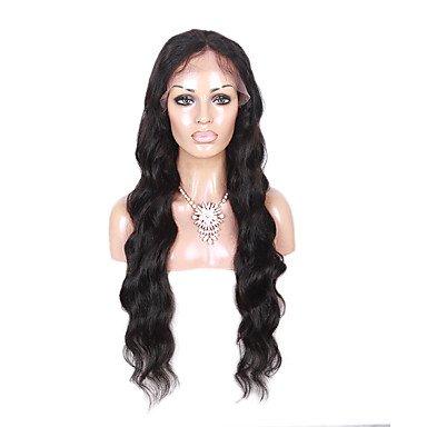 ondes longues du corps perruques 100% cheveux humains pleine perruques couleur 130% de densit de noir nature