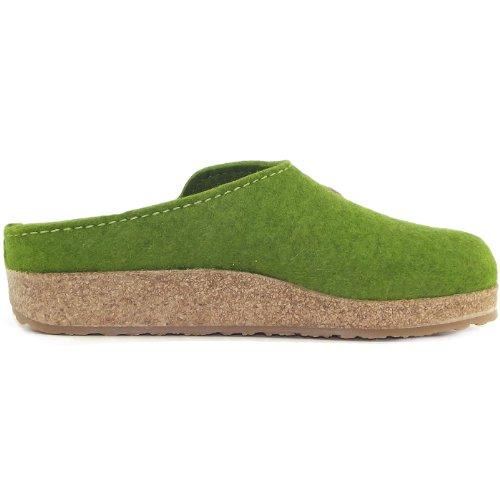 Haflinger ,  Sabot/sandali unisex adulto Verde (vert herbe)
