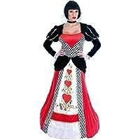 femmes Deluxe Reine de coeur Alice au pays des merveilles long longueur cerclé ourlet journée du Livre Halloween conte de fée costume déguisement UK 6-26 grande taille