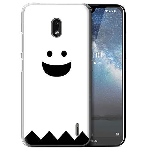 eSwish Gel TPU Hülle/Case für Nokia 2.2 2019 / Geist Muster/Halloween Zeichen Kollektion (Geist Halloween-masken 2019)