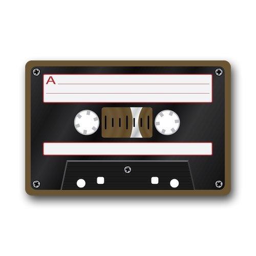 Felpudos Música Cassette cinta de música cubierta antideslizante lav