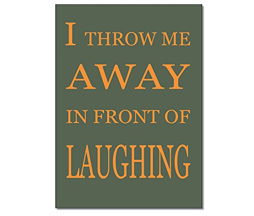 Carte-postalecarte-NR-5552-de-Tom-boulangers-de-la-gamme-engleutsch-for-oncatcher-i-Throw-Me-Away-in-front-of-Laughing-je-me-schmeiss-Chemin-avant-rire