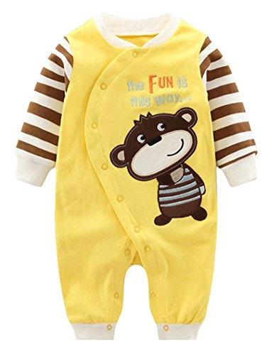 Kostüme Cute Baby Monkey (Minetom Verdickte Warm Unisex Baby Overall Strampler Herbst Winter Jungen Mädchen Schlafanzug Säugling Spielanzug Kinder Nachtwäsche Affe)