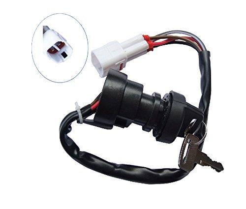 shamofeng Ignition Key Switch for Yamaha Raptor 50 04-08 Badger 80 95-01 Grizzly 80 02-08 YFM50 YFM80 YFA 125 Yamaha Breeze 125 95-01 BIG BEAR 250 Beer Track 250 99-01