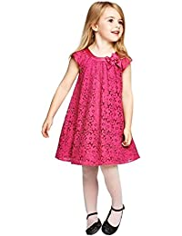 Niña princesa vestido,Sonnena ❤️ ❤️ ❤️ Rojo vestido de impresión hueca de encaje sin manga vestido para bebé niña elegante y casual ropa de fiesta de la princesa