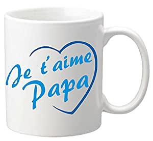 mug je t 39 aime papa cadeau pour la f te des p res no l anniversaire p ques bapt me amazon. Black Bedroom Furniture Sets. Home Design Ideas