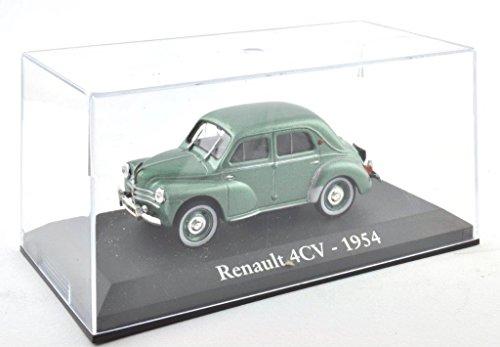 DieCast Metall Miniaturmodelle Modellauto 1:43 Oldtimer Klassiker Renault 4CV Modell grün 1954 Altaya IXO inklusive Kunststoff Vitrine