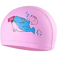 JERKKY Niños Gorro de natación Animal de Dibujos Animados Impreso Impermeable Tela PVC Protege Las Orejas I #