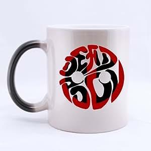 Deadpool police Rouge Cercle Fleurs noir Custom Morphing Mug Tasse à thé 11 ml tasse de bureau/Maison imprimé sur les deux côtés)