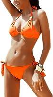 r-dessous Neckholder Push up Bikini orange Damen Bademode