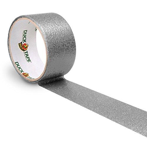 Duck Tape 221306 Glitter Gewebeband, 48 mm x 4,5 m, Silber