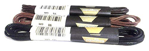 Ringelspitz RINGPOINT Gold 2 Paar handgwachste Schnürsenkel: Länge: 75 cm | Farbe: schwarz