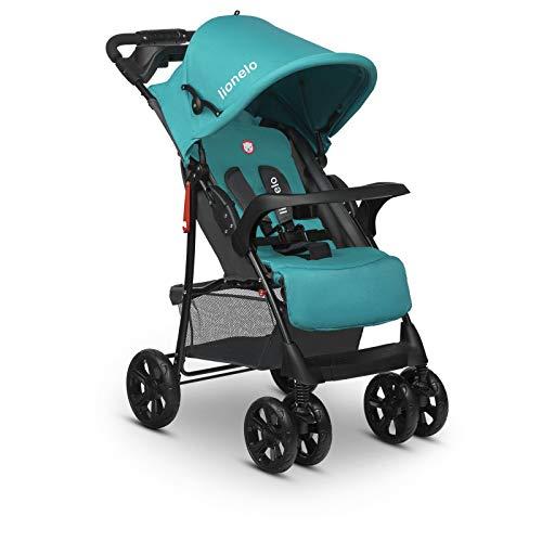 Lionelo Emma Plus Kinderwagen Kindersportwagen leicht modern klein Buggy mit Liegeposition zusammenklappbar (Vivid Turquoise)