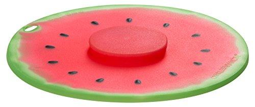 Charles Viancin Silikon luftdicht Deckel, 20cm/20,3cm, Wassermelone, Pink Microwavable Kochen