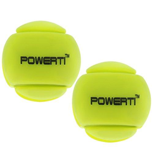 MagiDeal 2 Stück Tennisschläger Schwingungsdämpfer Tennis Squash Schläger Vibration Dampenersk, Silikon - Gelb