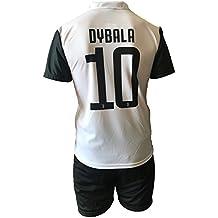 Conjunto Equipacion Camiseta Pantalones Futbol Juventus Paulo Dybala 10 Replica Autorizado 2017-2018 Niños Adultos (Talla 10 Años)