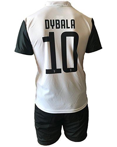 Completo juventus paulo dybala 10 pantaloncini nuovo logo replica autorizzata bambino adulto 2017-2018, 8 anni