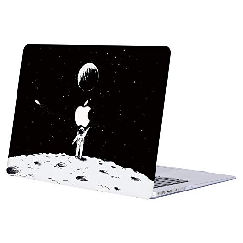 AQYLQ MacBook Pro 15 Zoll Hülle 2018/2017/2016 Freisetzung A1990/A1707 Plastik Hartschale Schutzhülle Snap Case für MacBook Pro 15 mit Touch Bar - JR856 Mond (Mond Bars)