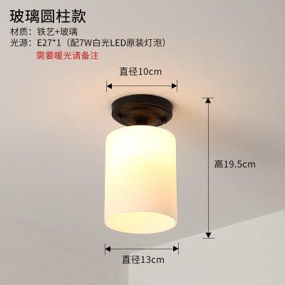 BESPD Amerikanischen Dorf Gang Einfache moderne Nordic Bügeleisen LED Flur kleine Hängeleuchte Kronleuchter Deckenlampe Glas Zylinder -