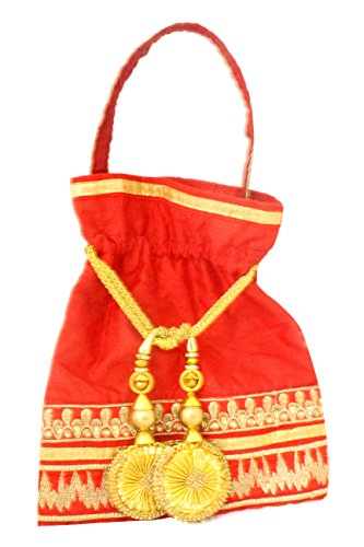 Tickles Ethnic Rajasthani Potli Bag / Clutch/ Potli Purse Wedding Gift  available at amazon for Rs.449