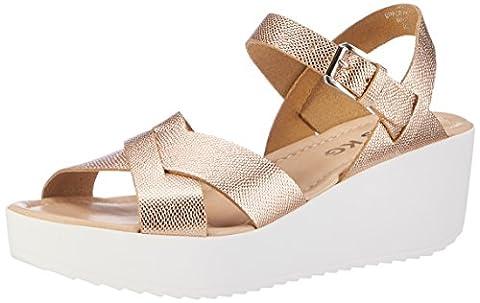 Miss KG Women's Parker Wedge Heels Sandals gold Size: 4 UK
