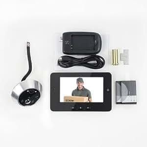 """Digitaler Türspion mit 4,3"""" Display IR Türkamera Überwachung mit Bewegungsdetektion für Türstärken von 35-90 mm in schwarz"""