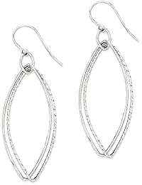 ICE CARATS 14k White Gold Twist Drop Dangle Chandelier Shepherd Hook Earrings Fine Jewelry Gift Set For Women Heart