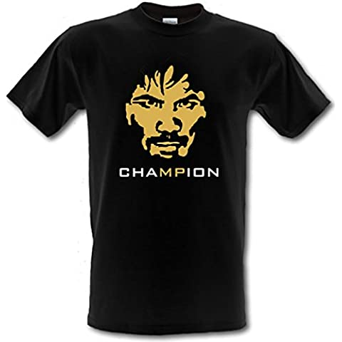 MANNY CHAMPION lucha con texto en inglés of the Juan de boxeo de Century Mayweather algodón T-Shirt de sujeción para trabajos pesados Gildan de distintos tamaños S-XXL
