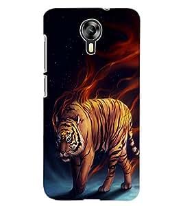 ColourCraft Smoke Tiger Design Back Case Cover for MICROMAX CANVAS XPRESS 2 E313