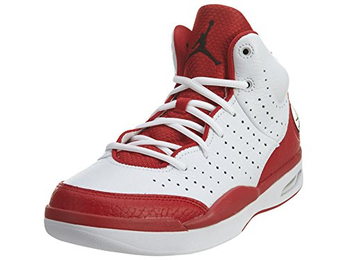 Nike Jordan Flight Tradition, Chaussures de Sport-Basketball Homme, Noir Blanc Cassé - Blanco (White / Black-Gym Red)