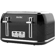 Breville VKT890 Flow 4-Slice Toaster with High-Lift and Wide Slots, Black