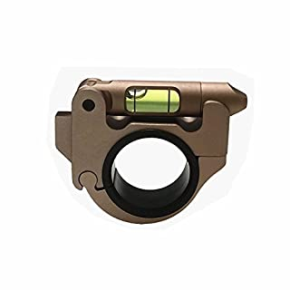 FIRECLUB Tactical Rifle Scope Mount Sights for 25.4/30mm Riflescope Tubes Bubble Spirit Level Hunting Accessories (sand)