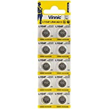 10 X LR44 A76 Alkaline Button Cell AG13 A76 L1154 by Vinnic
