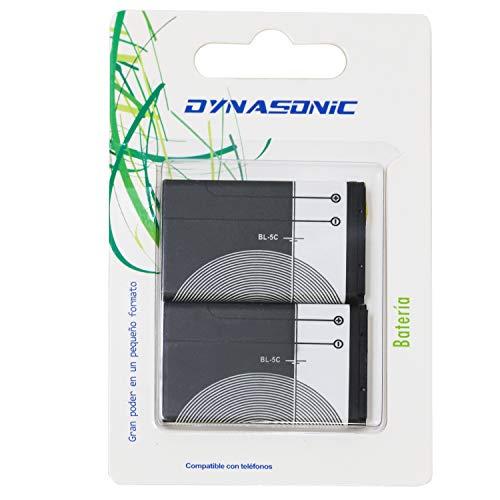 Oferta de Batería Tipo BL5C para móvil, Altavoz, y Otros aparatos. Baterías Recargables de 1020mAh (Pack 2 BL5C)