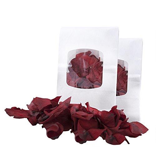 Echte Rosenblätter