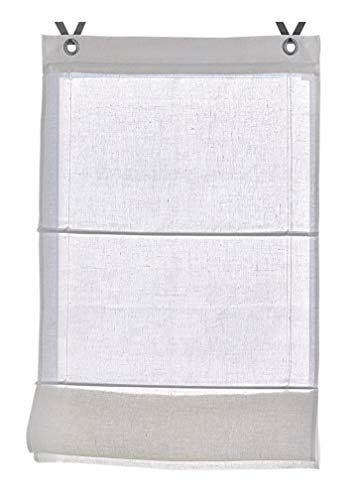 Tenda a pacchetto metis lino bianco con occhielli 45 * 140 cm